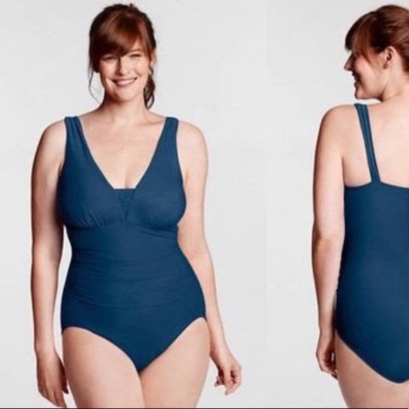 6870773556 Lands' End Swim | Lands End Blue One Piece Bathing Suit | Poshmark